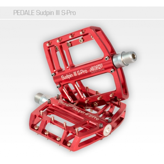 NC-17 Sudpin III S-Pro CNC 15mm hoch Pedal, Präzisionslager rot