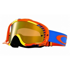 Oakley MX Bio Hazard Goggle Orange Blue Fire iridium