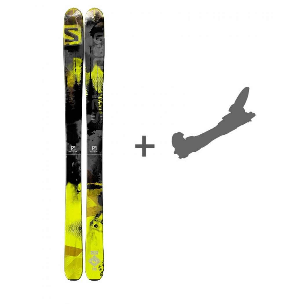 salomon q 105 ski mit bindung freeride mountain shop. Black Bedroom Furniture Sets. Home Design Ideas