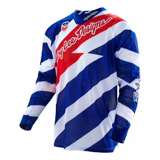 Troy Lee Designs SE Air Jersey caution white navy XL