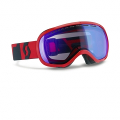 Scott Fix Neon Red Goggle illuminator blue chrome1