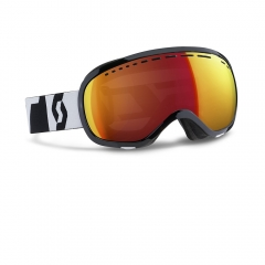 Scott Off-Grid Black White Goggle red chrome2