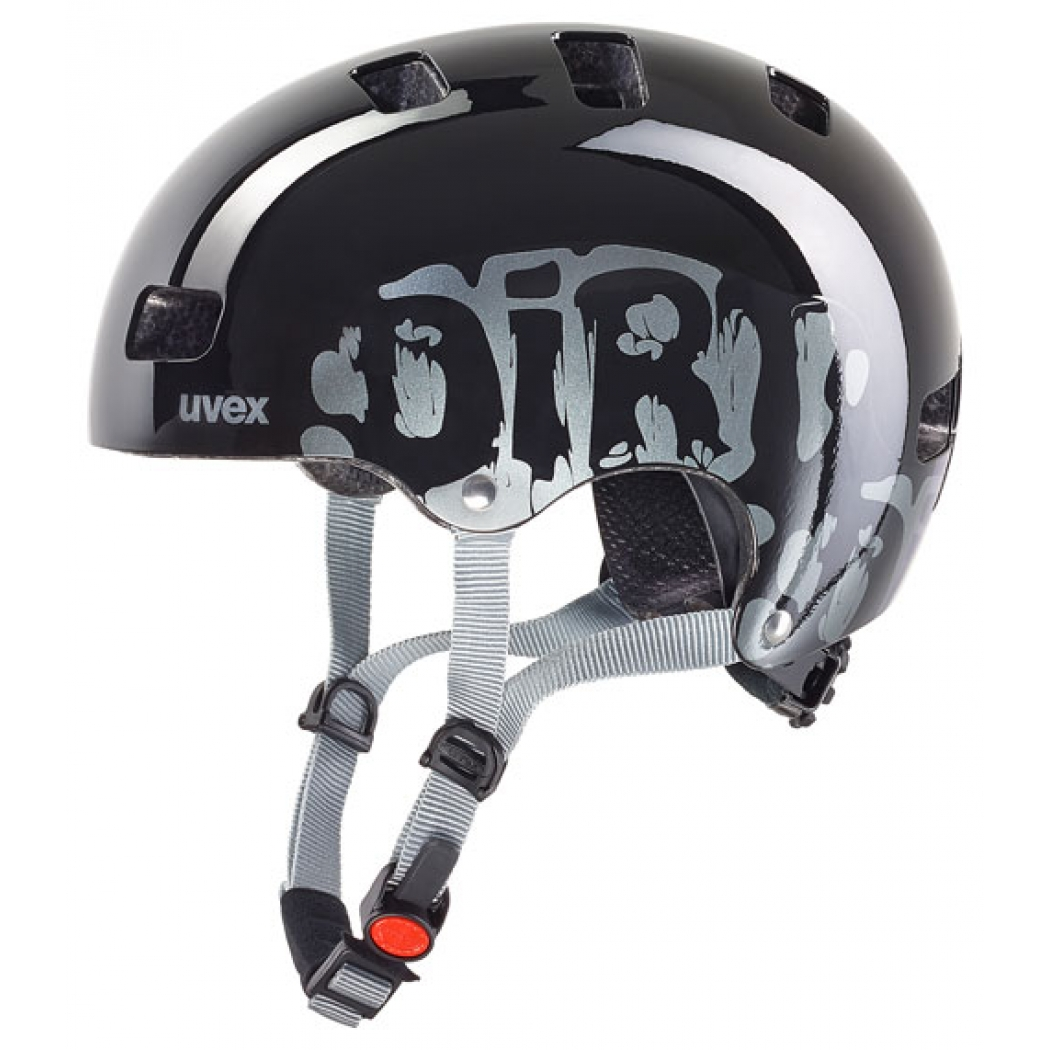 uvex kid 3 helmet dirtbike black freeride mountain shop fahrrad snowboard ski. Black Bedroom Furniture Sets. Home Design Ideas