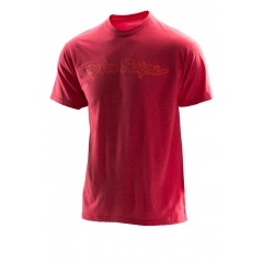 Troy Lee Designs Singature Tee heathered red