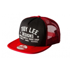 Troy Lee Desings Classic Raceshop Hat black red