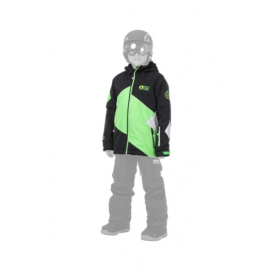 Picture Seattle Kids Jacket black/neongreen/white