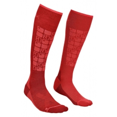 Ortovox Ski Compressions Socks W dark blood
