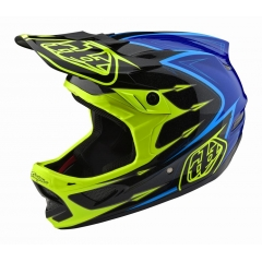 Troy Lee Designs D3 Helmet Corona Flo Yellow/Blue