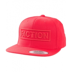 Faction Logo Flexfit Cap red one size