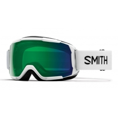 Smith Grom Junior White Goggle Green Sol-X Mirror ChromaPop