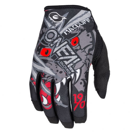 Oneal Mayhem Glove Matt McDuff Signature gray red