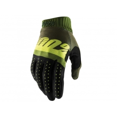 100% Ridefit Glove army green/fluo lime/fatigue