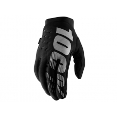 100% Brisker Cold Weather Youth Glove  black/grey