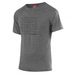 Löffler Hr. T-Shirt Bicycles grey-melange