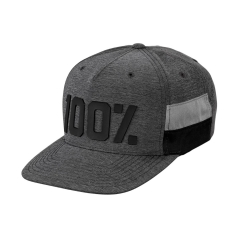 100% Frontier Snapback Hat heather grey