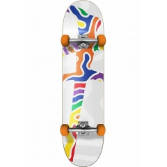 Red-Dragon Skateboards-Complete Squiggle 7.25 white
