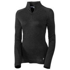 Smartwool Womens Midweight Zip T black