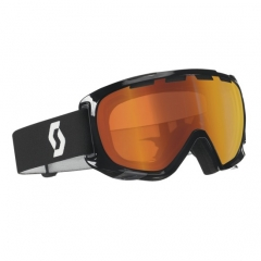 Scott Fix black Goggle red chrome
