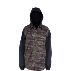 Ride Hybrid Shacket distorted camo print